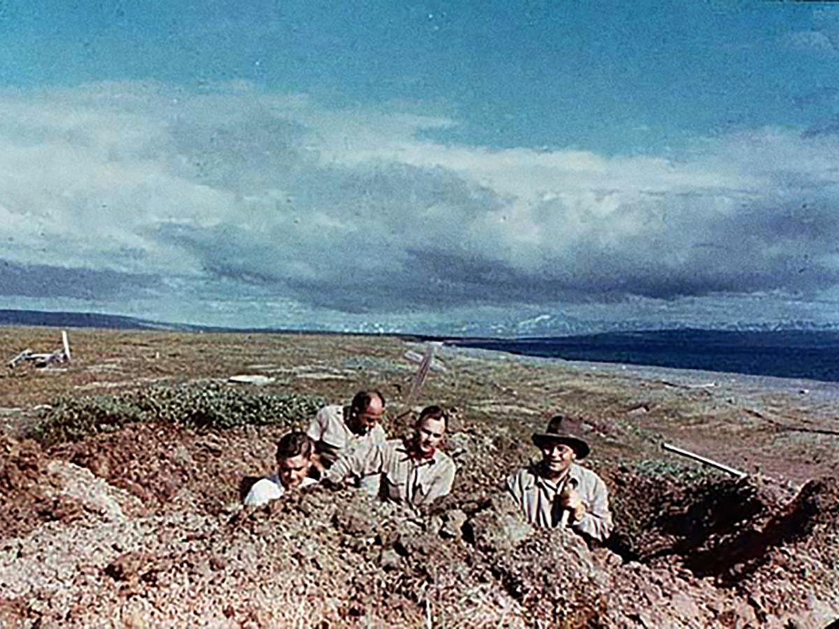 The first Brevig Mission dig, in 1951.