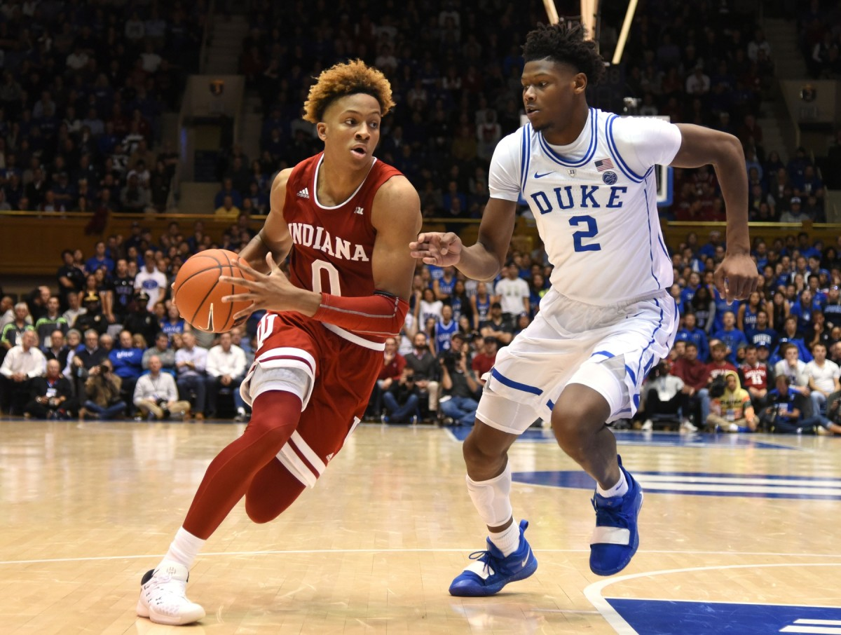 Romeo Langford was a five-star recruit out of New Albany High School in 2018, and played one season at Indiana. (Photos by USA TODAY Sports)