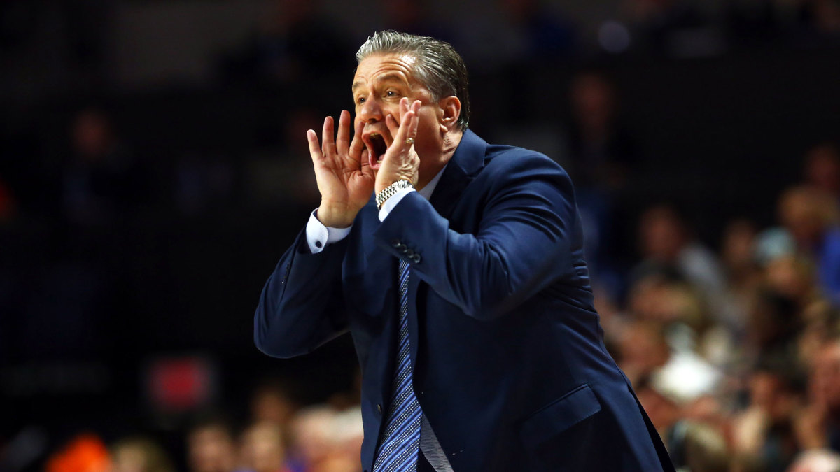 Kentucky coach John Calipari yells during a game