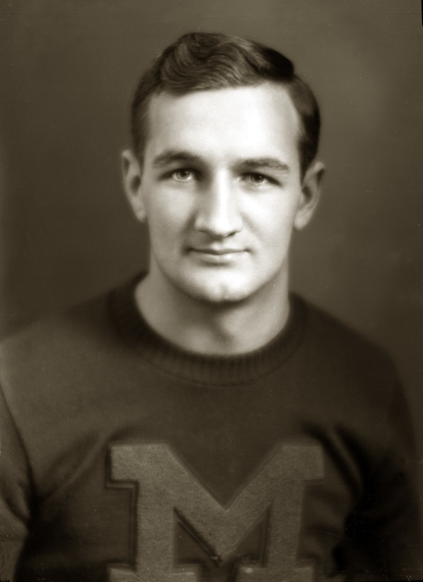 Michigan football star Tom Harmon