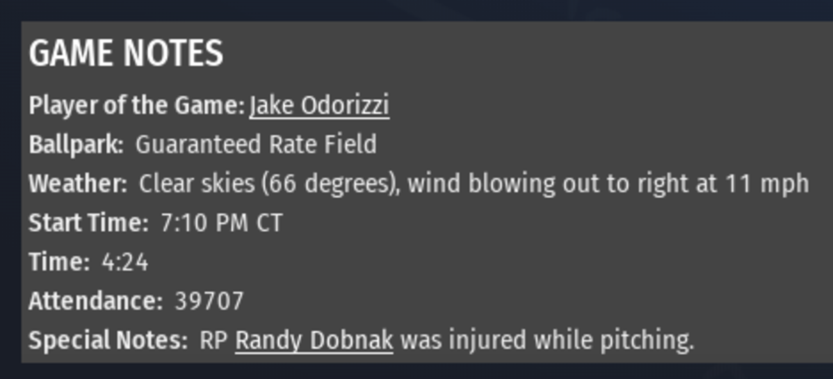 White Sox OOTP 5-29-2020 Part 4