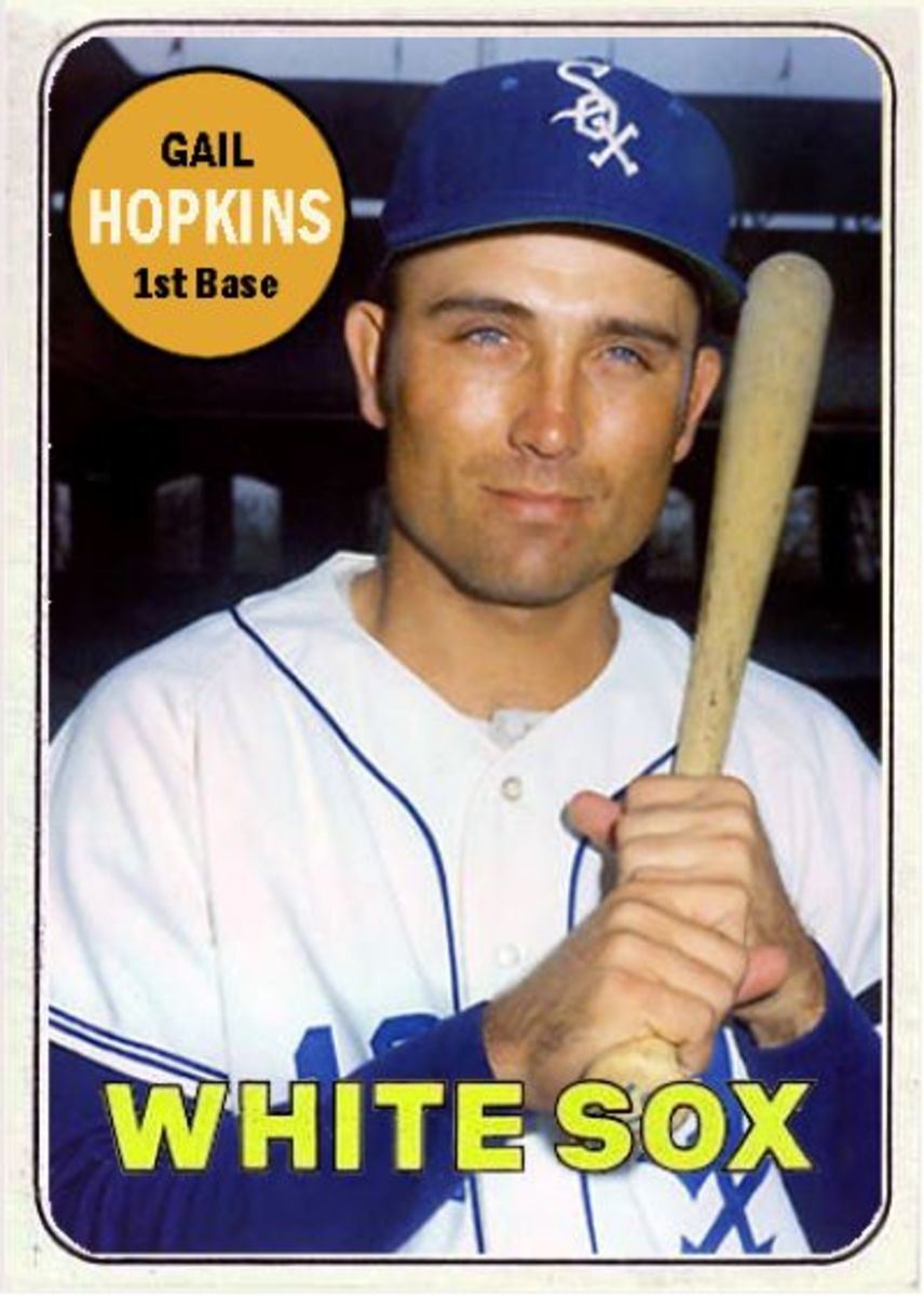 Gail Hopkins kinda sorta played played first base.