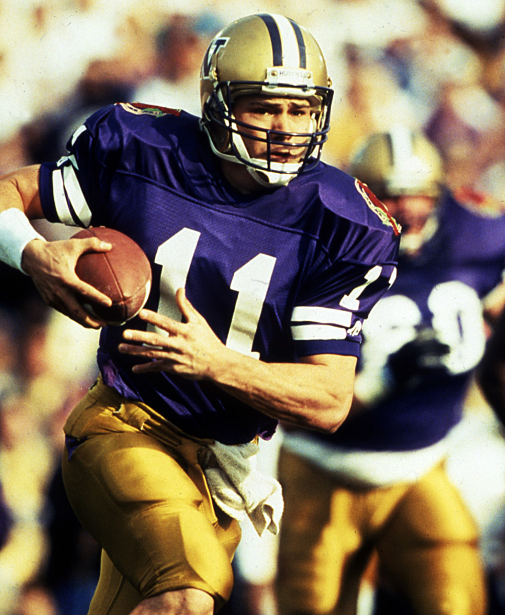 Mark Brunell suffered a serious knee injury in spring football in 1991.