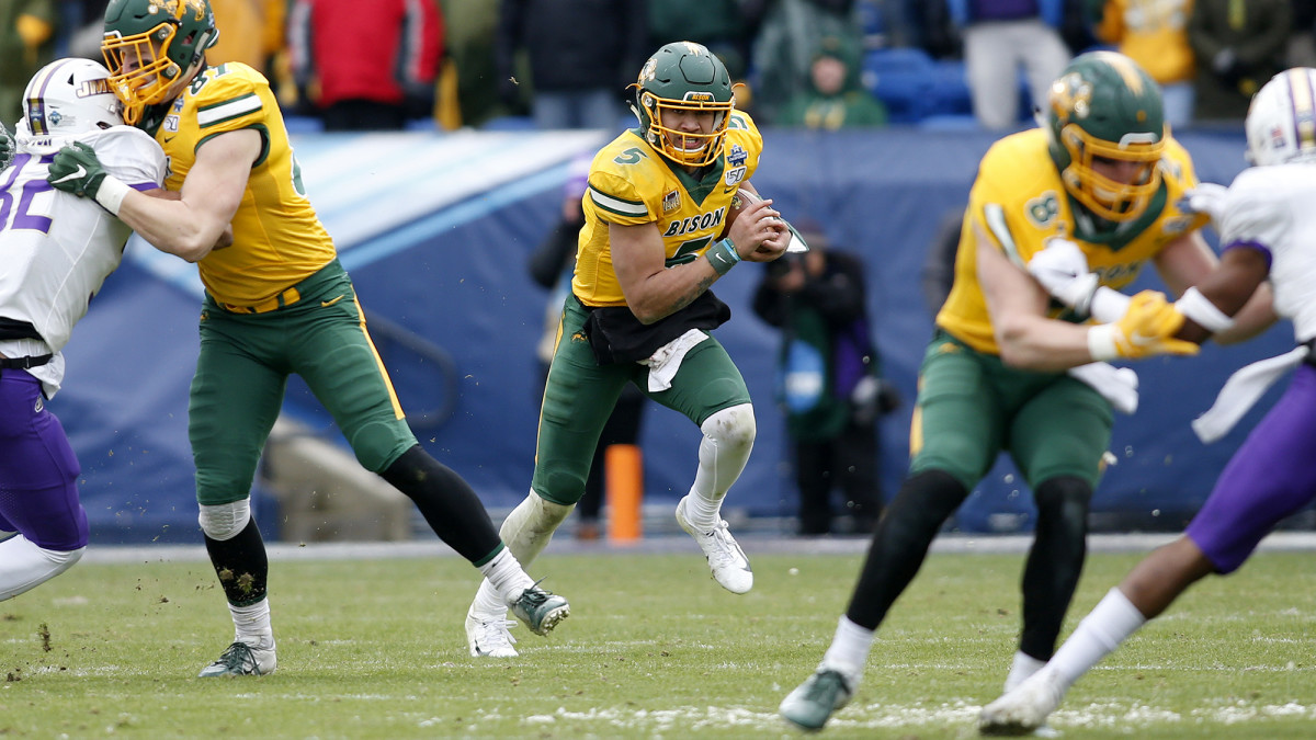 In the FCS title game, Lance threw just 10 passes but ran for 166 yards as the Bison beat James Madison.