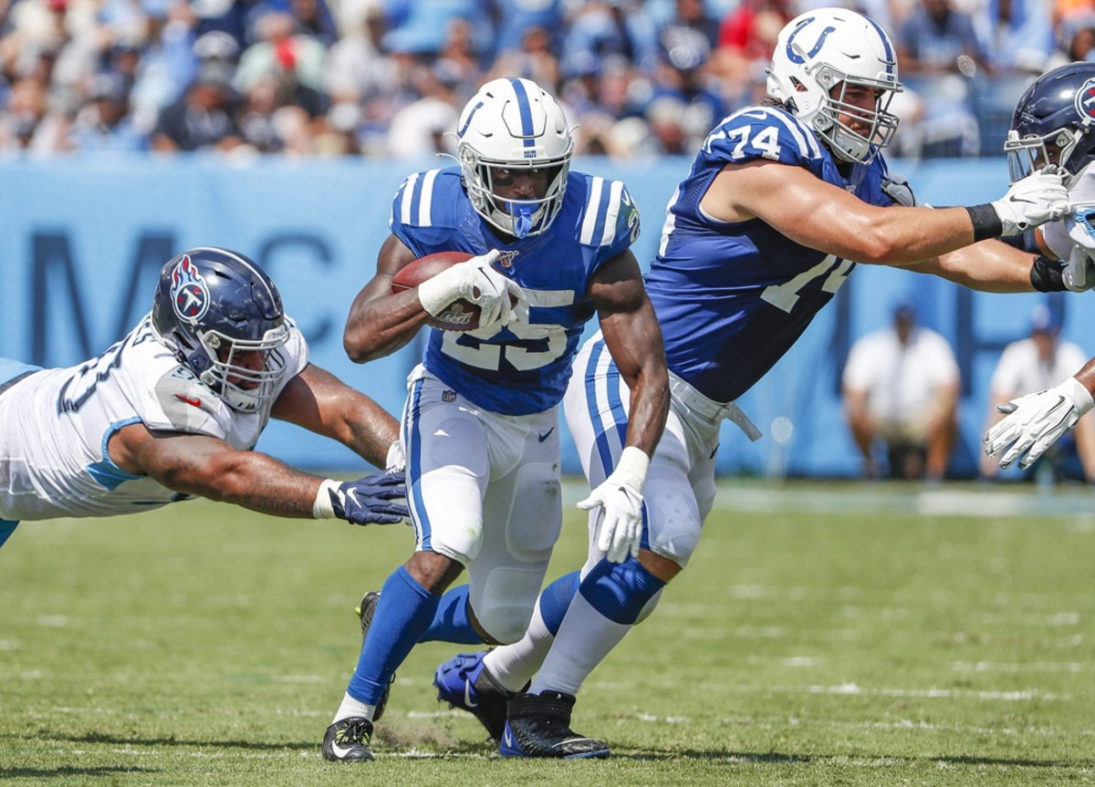 Indianapolis Colts running back Marlon Mack, who rushed for a career-best 1,091 yards in his third NFL season, is expected to share the 2020 workload with rookie Jonathan Taylor.