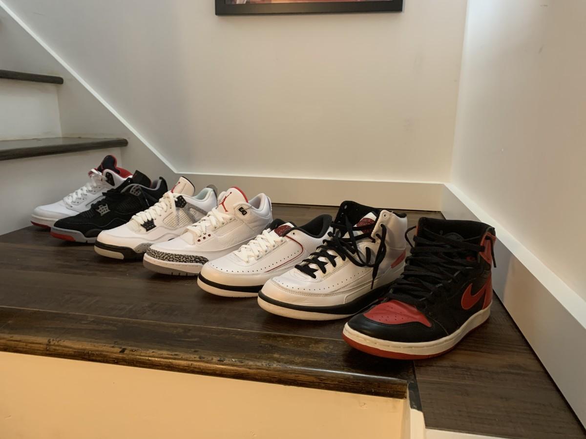 Some of Mary Berdo's favorite Jordans.