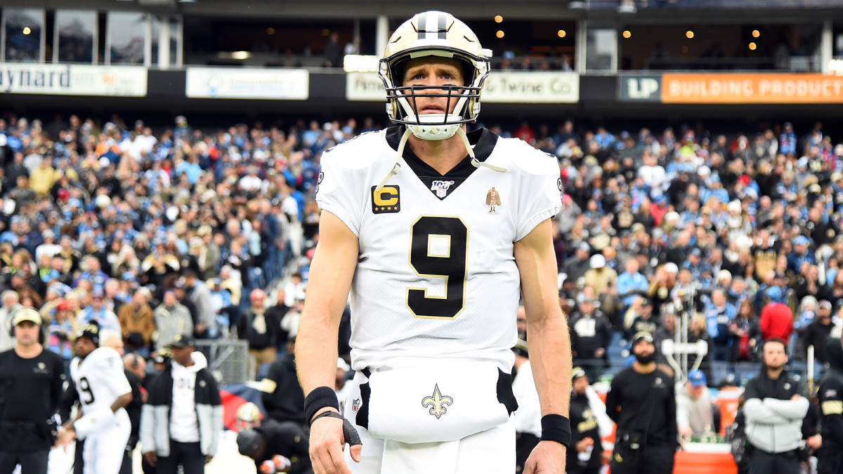 New Orleans Saints quarterback Drew Brees before the game against the Tennessee Titans at Nissan Stadium