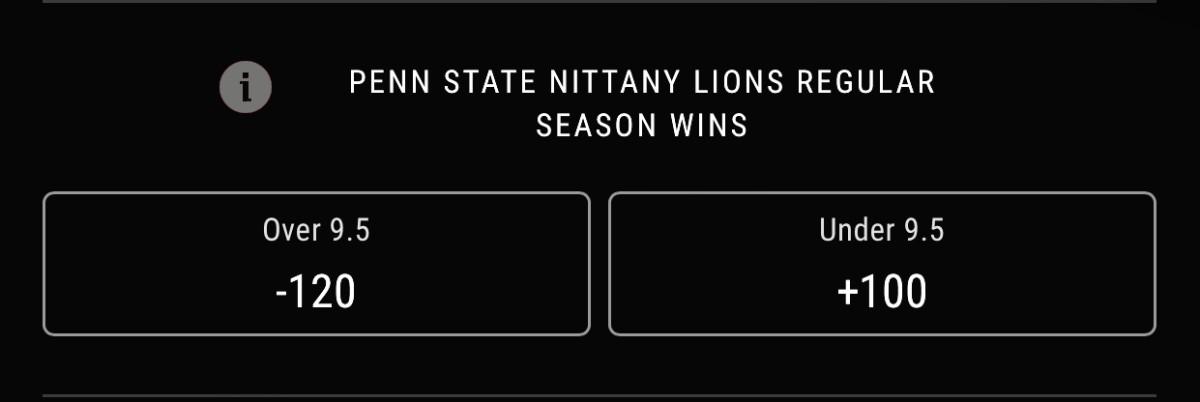 Odds courtesy of PointsBet Sportsbook
