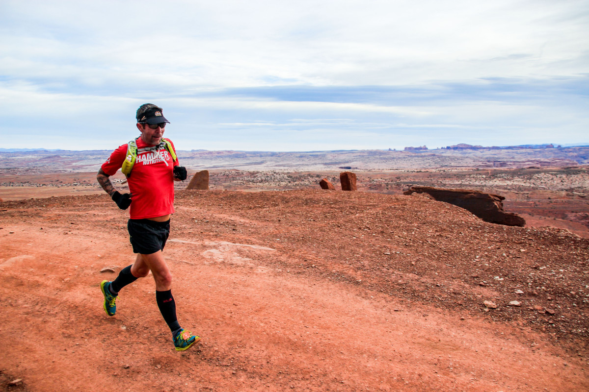 Moab Red Hot 55K, outside Arches National Park.