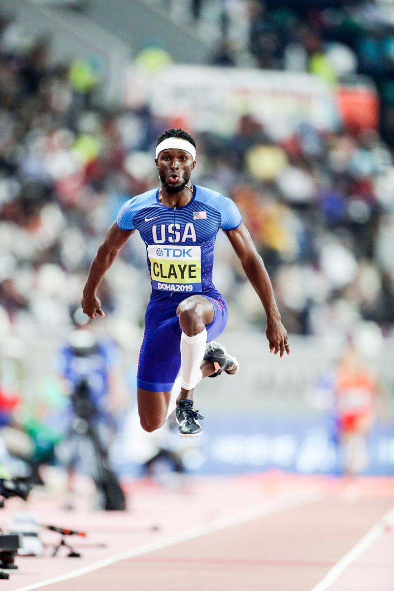 Will Claye mid-air