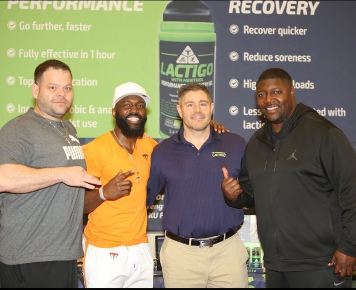 Derin Graham (second from left) and Chris Beaty did a lot of business events together.
