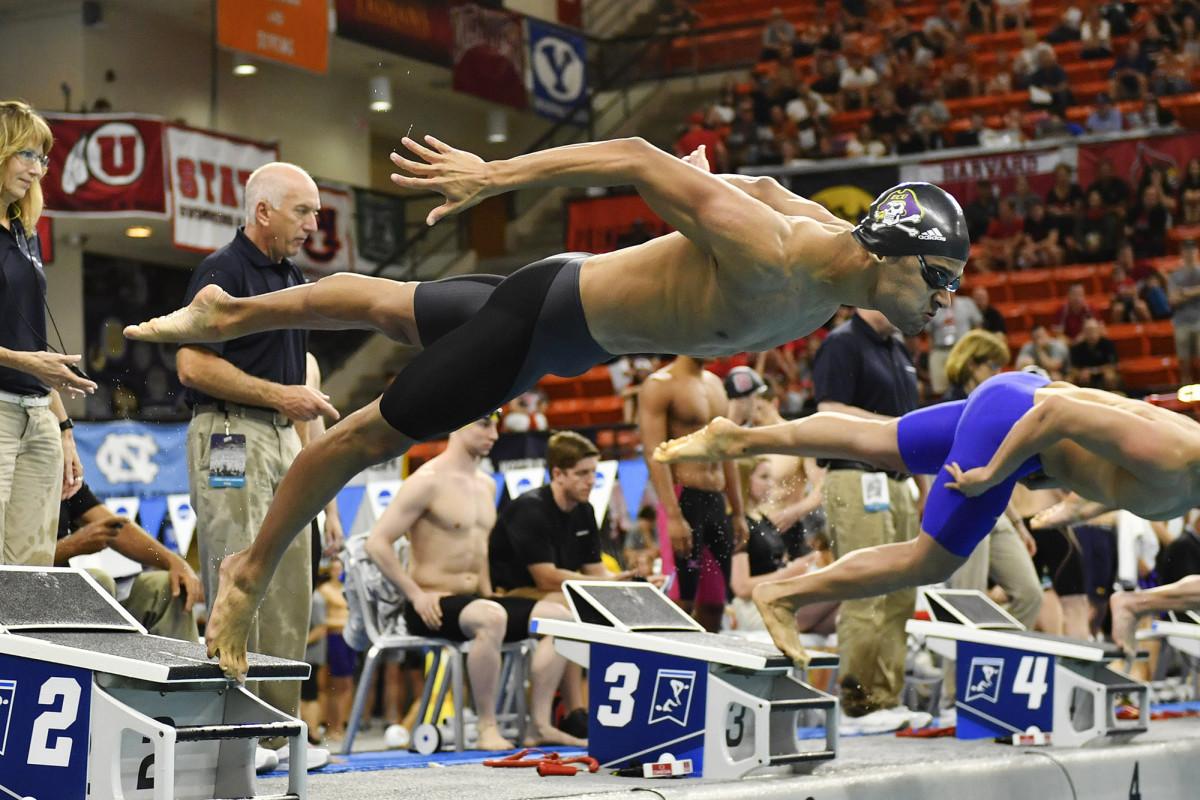 East Carolina swimmer