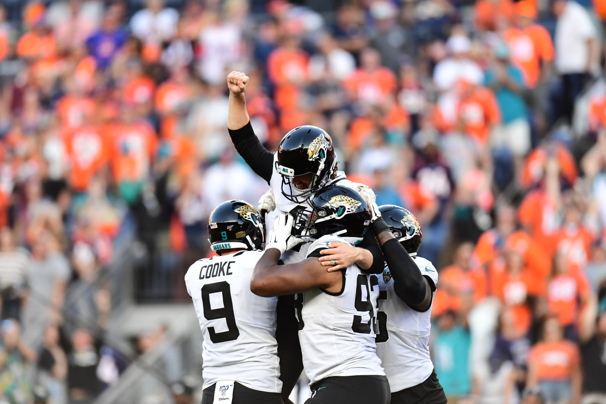 Lambo has two game winning field goals with the Jaguars and went 4-4 on 5