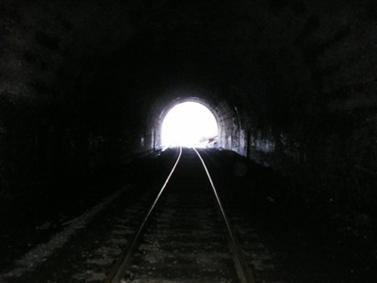 See, there's really a light. And no train...yet.