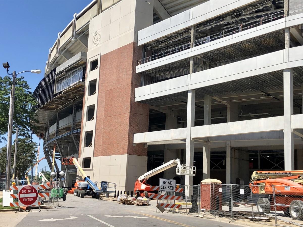 Bryant-Denny Stadium renovation, south side, June 2020