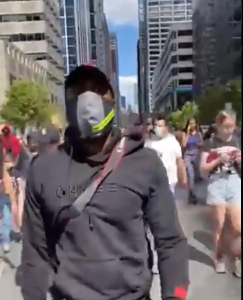 New Orleans Saints Malcolm Jenkins protesting in Philadelphia