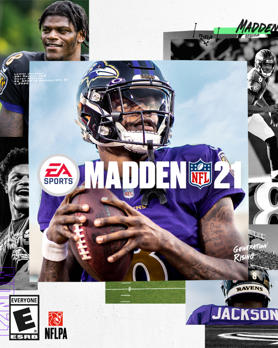 Lamar Jackson is on the cover of Madden NFL 21
