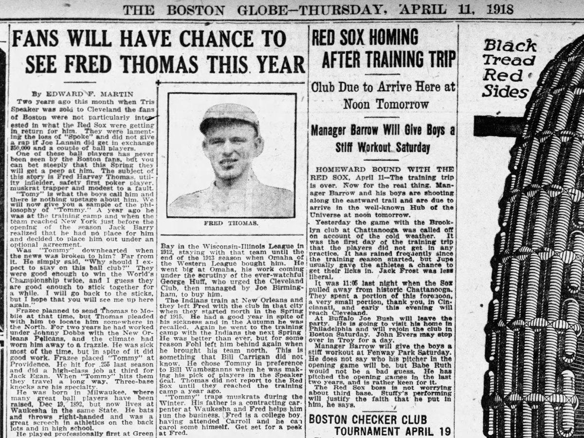 Newspaper clip from the Boston Globe
