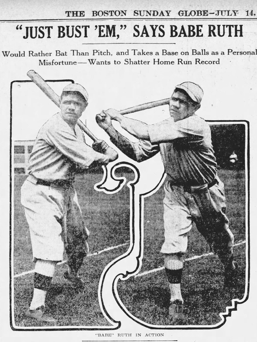 Newspaper clipping from the Boston Globe