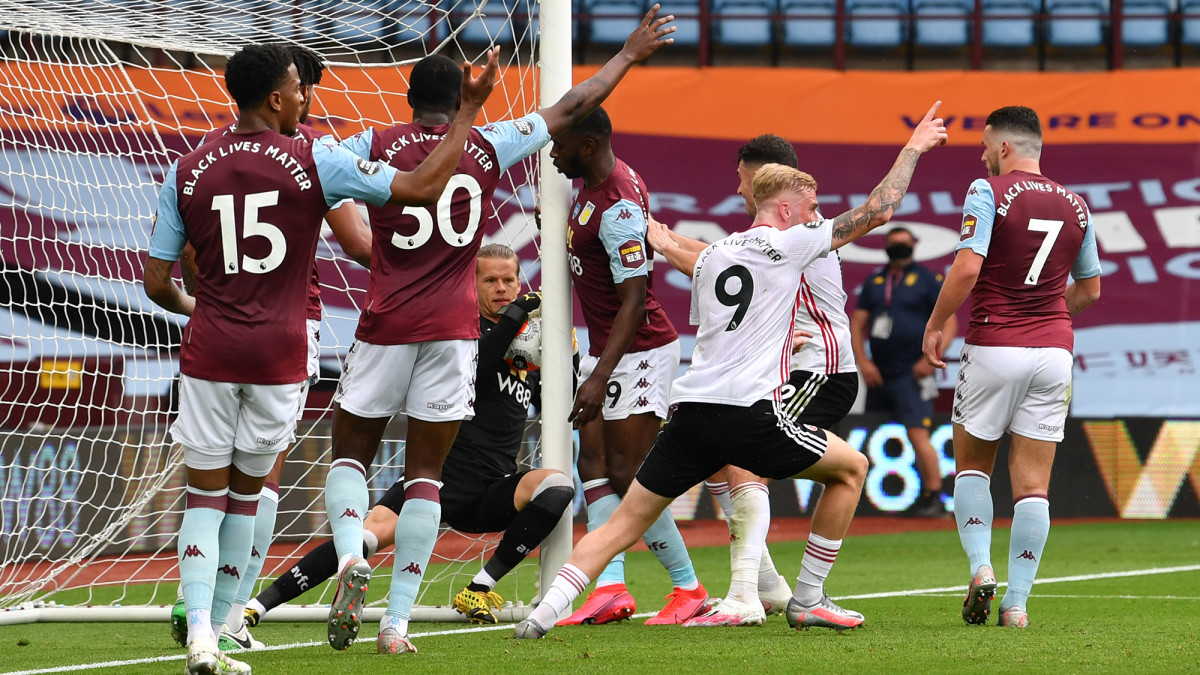 Sheffield United thought it had scored vs. Aston Villa