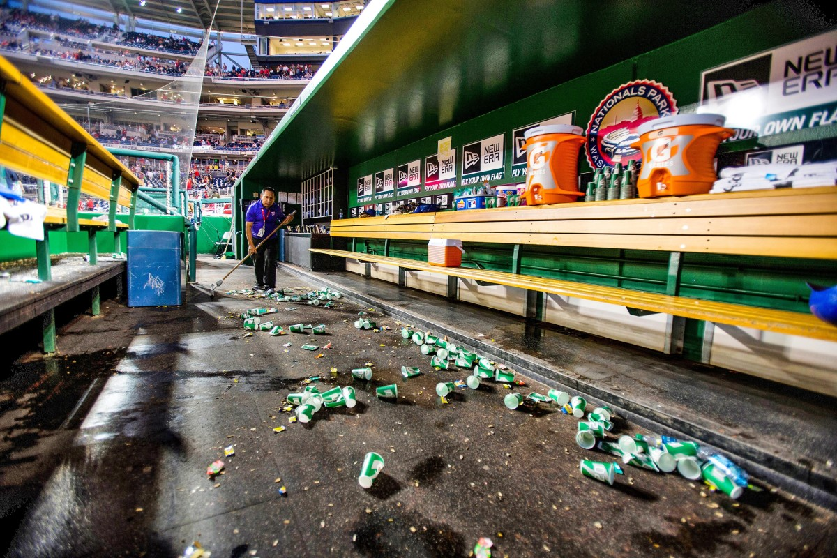 Expect heightened new hygiene standards at stadiums, even in the depths of a Major League dugout.