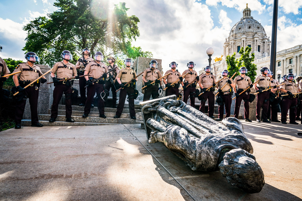 In St. Paul, protestors pulled down an 89-year-old Columbus statue two weeks after Floyd was killed.