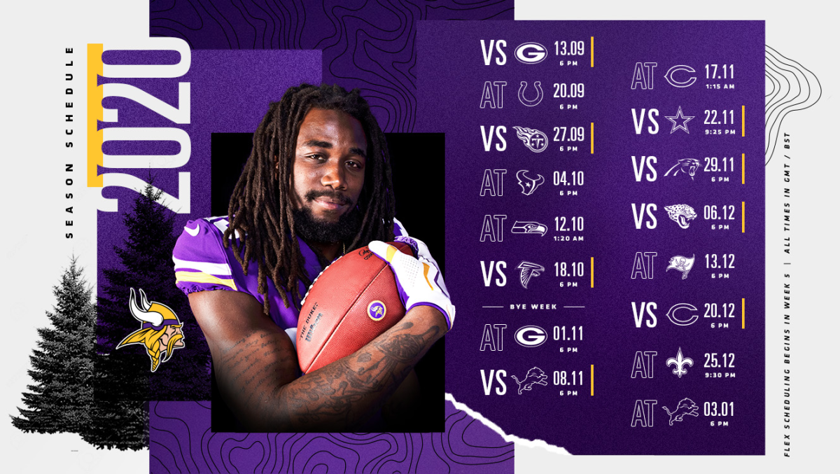 Schedule courtesy of Minnesota Vikings official website