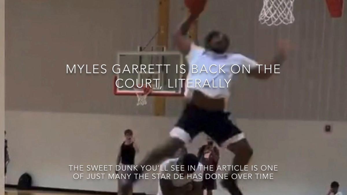 The Latest of Myles Garrett's Dunks