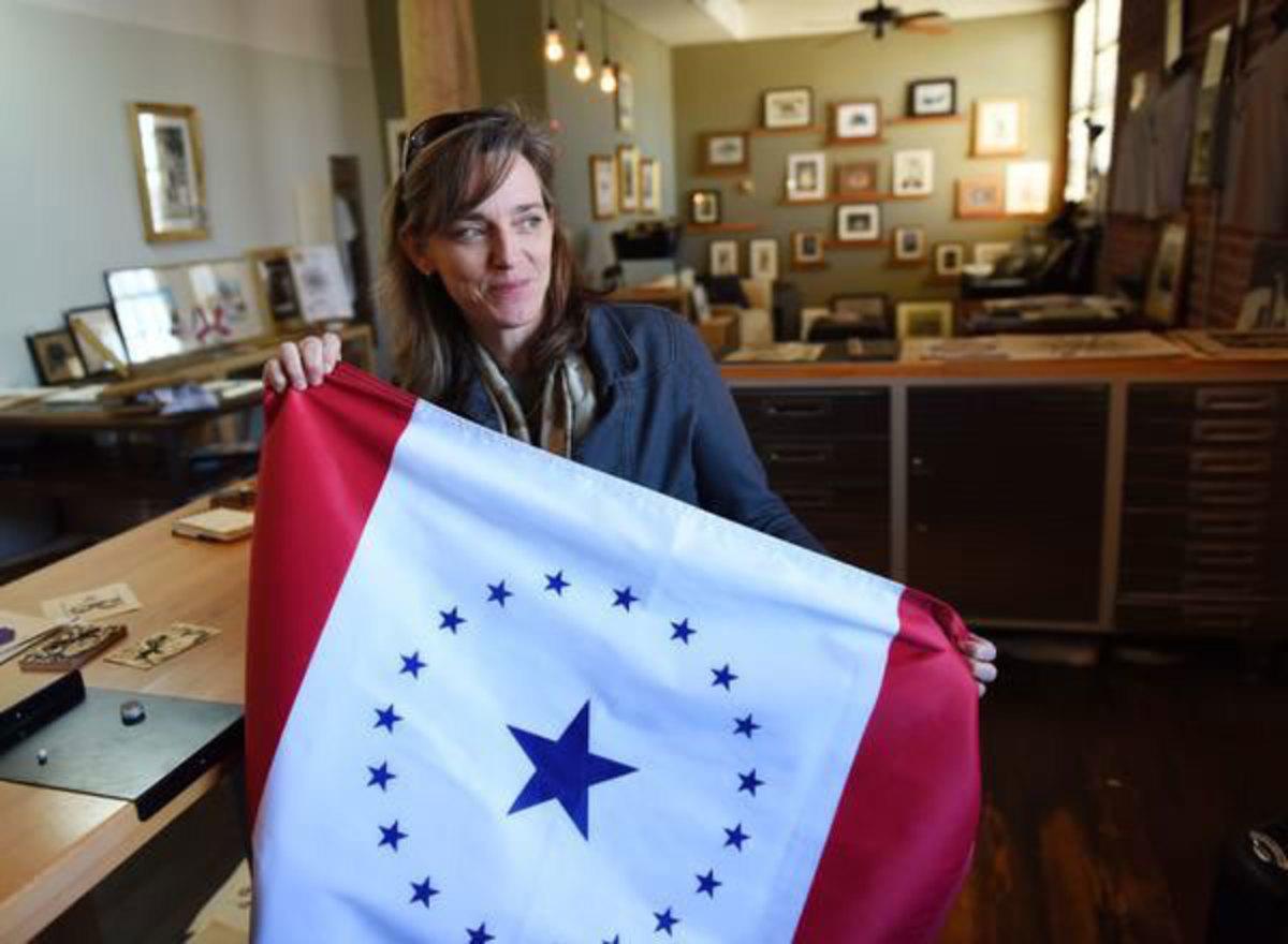 Jackson artist Laurin Stennis, granddaughter of the late U.S. Sen. John C. Stennis, designed a proposed alternate Mississippi state flag.