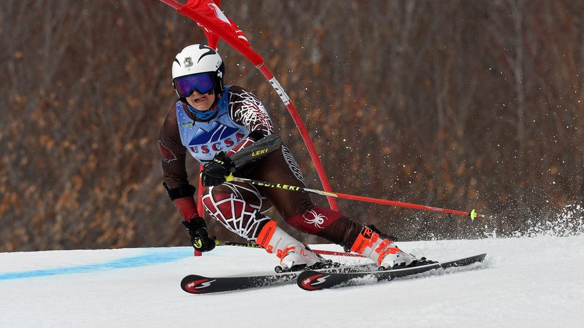 Brown women's skiier Maddie McCarthy