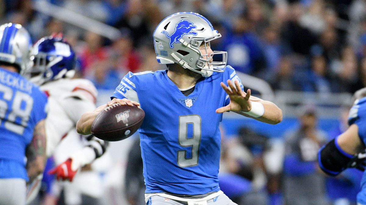 A back injury cost Stafford the second half of the 2019 season and ended his consecutive starts streak at 136 games.
