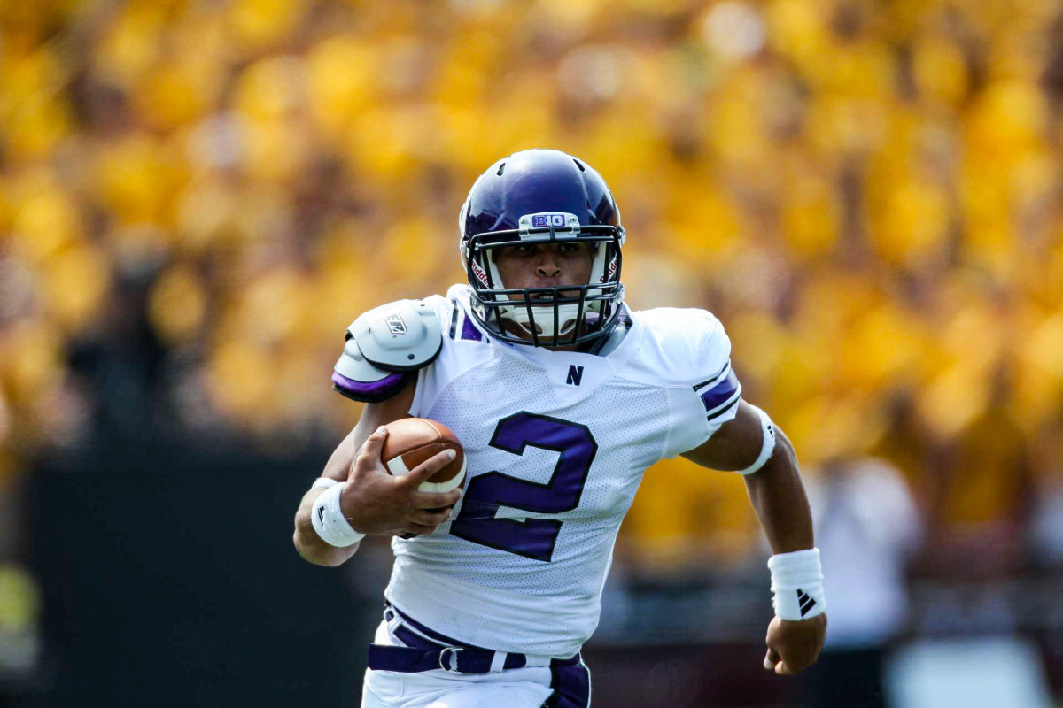 Colter's Northwestern stats: 39 appearances, 5,023 all-purpose yards and 50 TDs—yet the Wildcats have shunned him, he says, since he pushed to unionize.