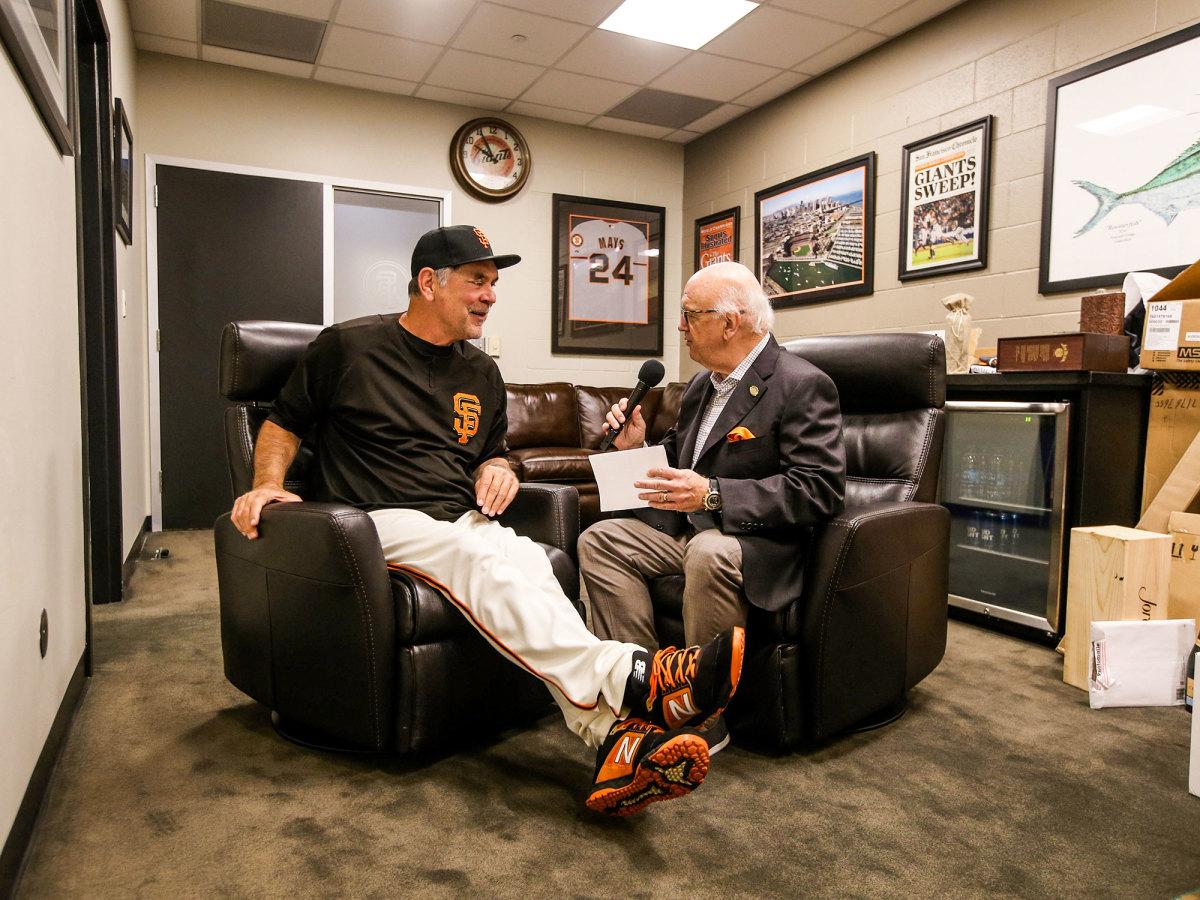 Jon Miller interviews former manager Bruce Bochy
