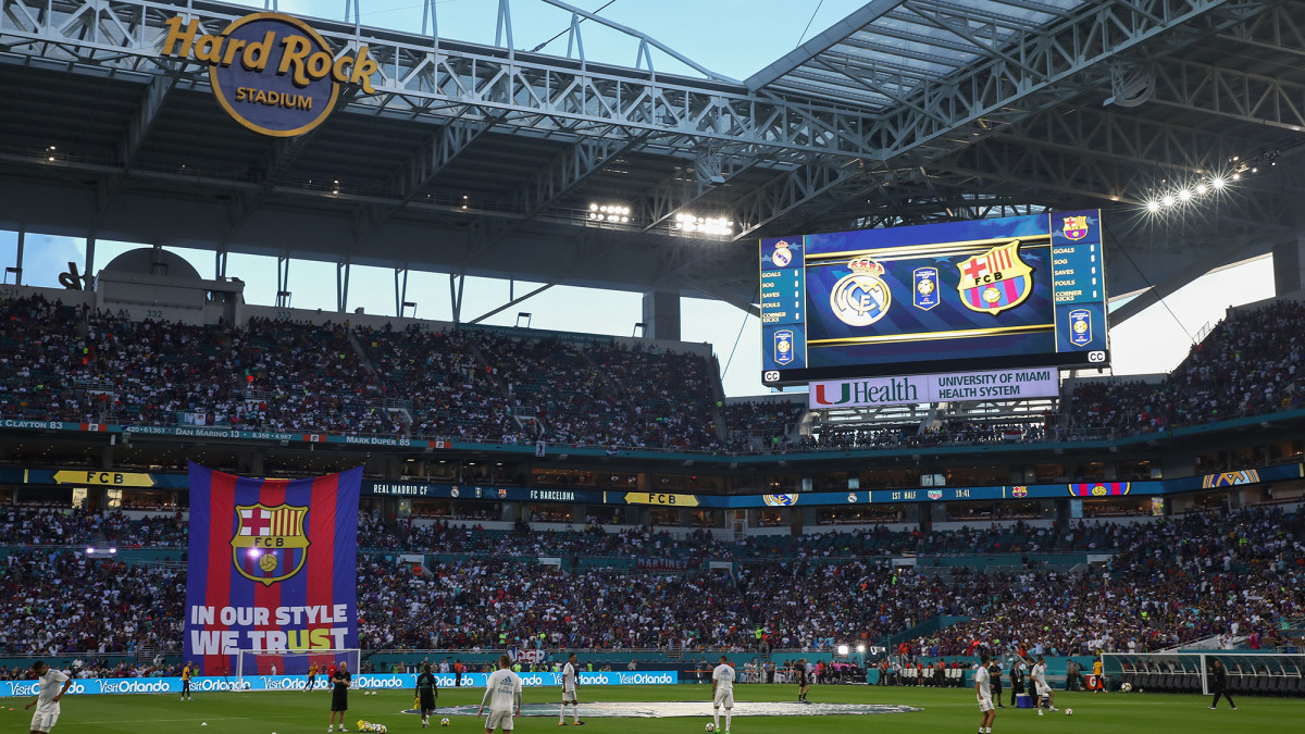 Barcelona and Real Madrid played in Miami in 2017