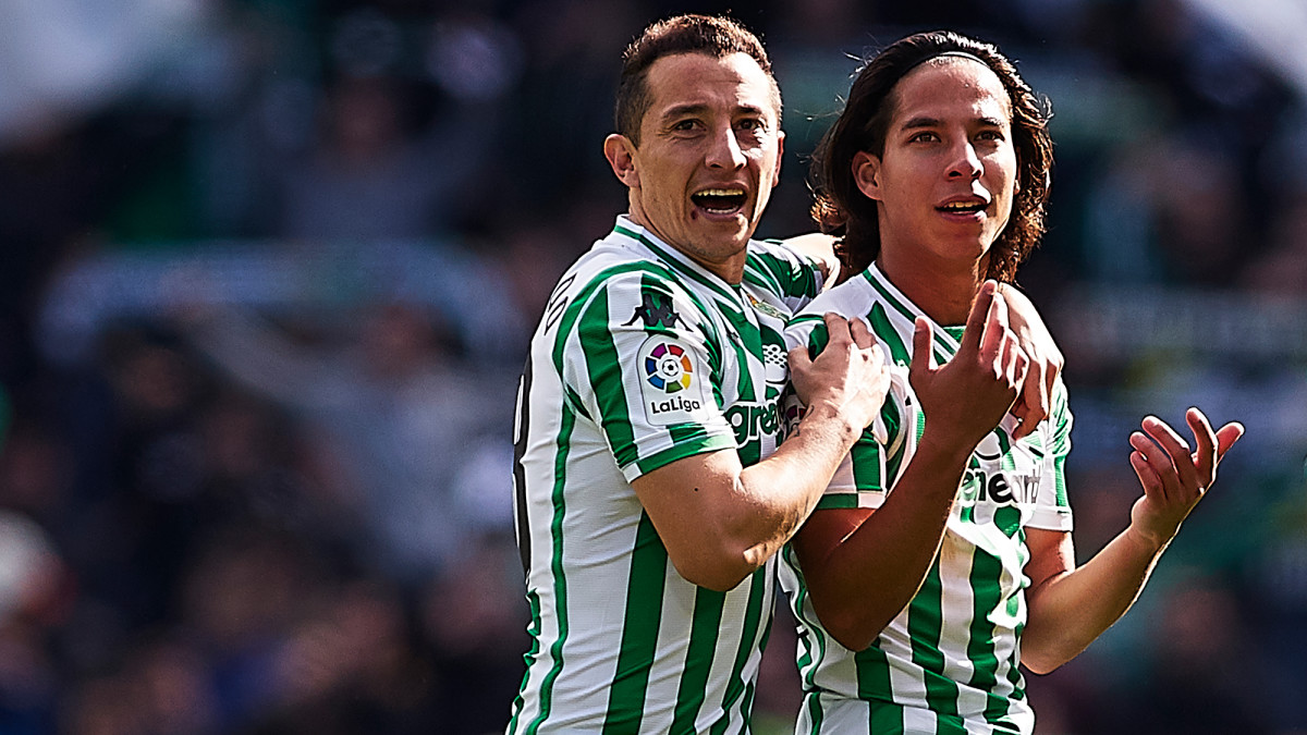 Mexico's Andres Guardado and Diego Lainez play for Real Betis