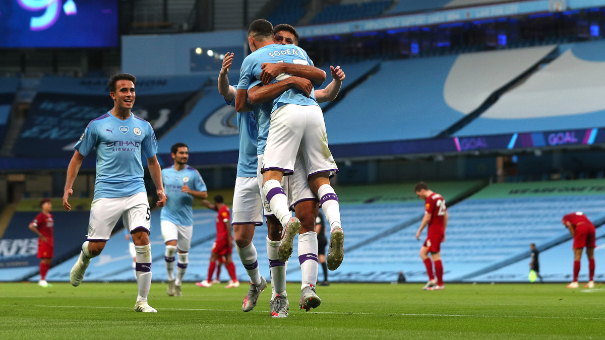 Phil Foden scores for Man City vs. Liverpool