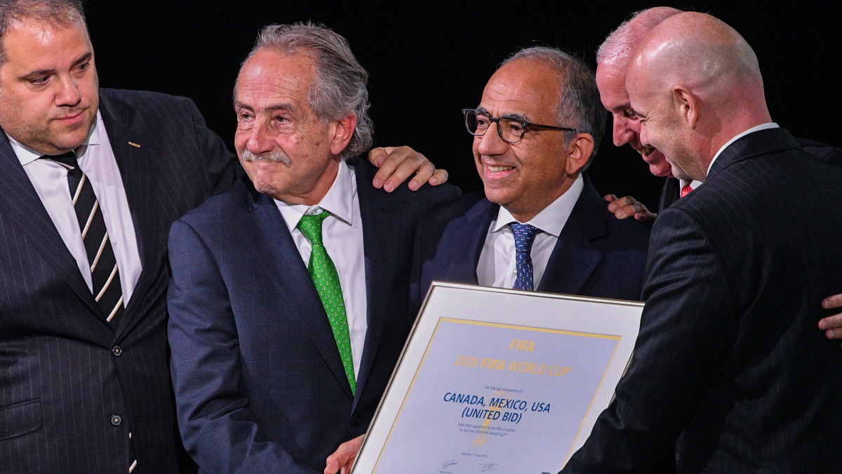 The USA, Mexico and Canada will co-host the 2026 World Cup