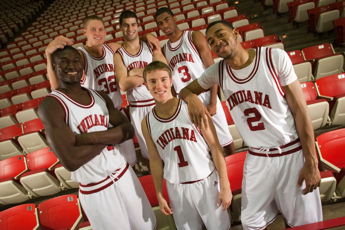 Maurice Creek (back right) was part of Tom Crean's first big recruiting class that includes a lot of familiar faces. (USA TODAY photo)