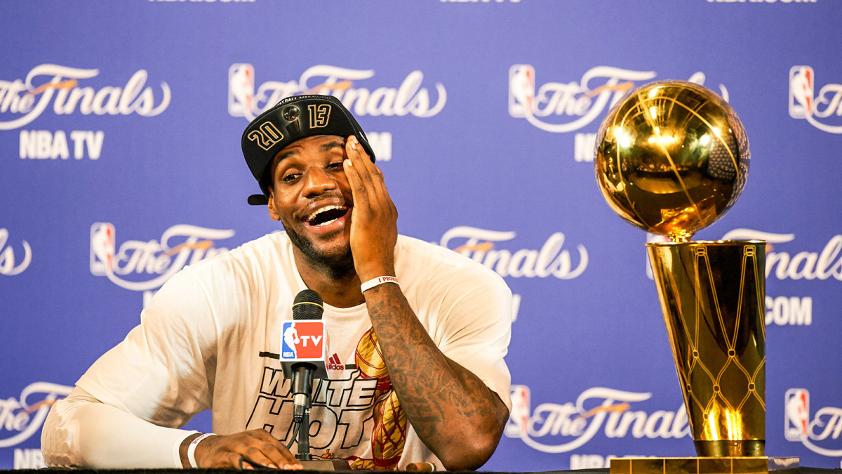 LeBron James after winning title with Miami Heat