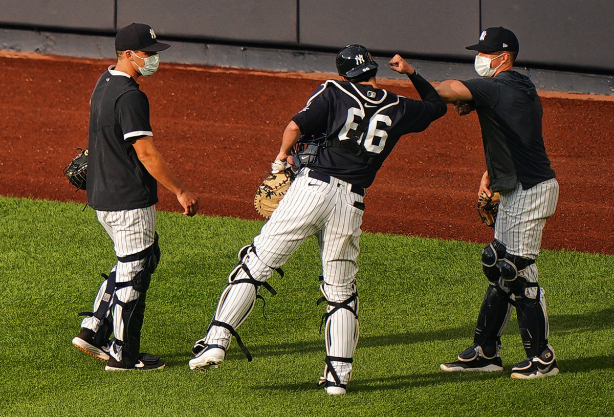 Like other teams, the Yankees are getting accustomed to their new COVID reality.