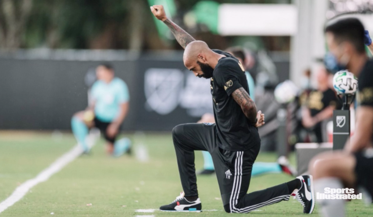 Thierry Henry Kneels in Honor of George Floyd in First Game Back