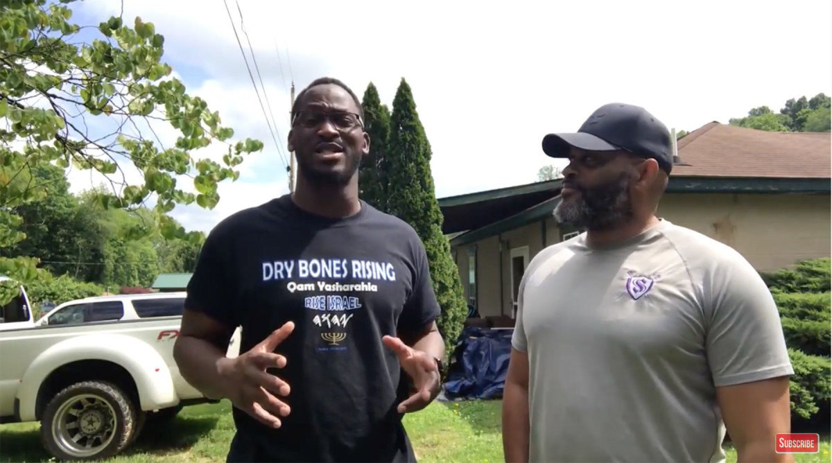 Former Packers player Kabeer Gbaja-Biamila makes a video with Straitway Ministry leader Charles Dowell