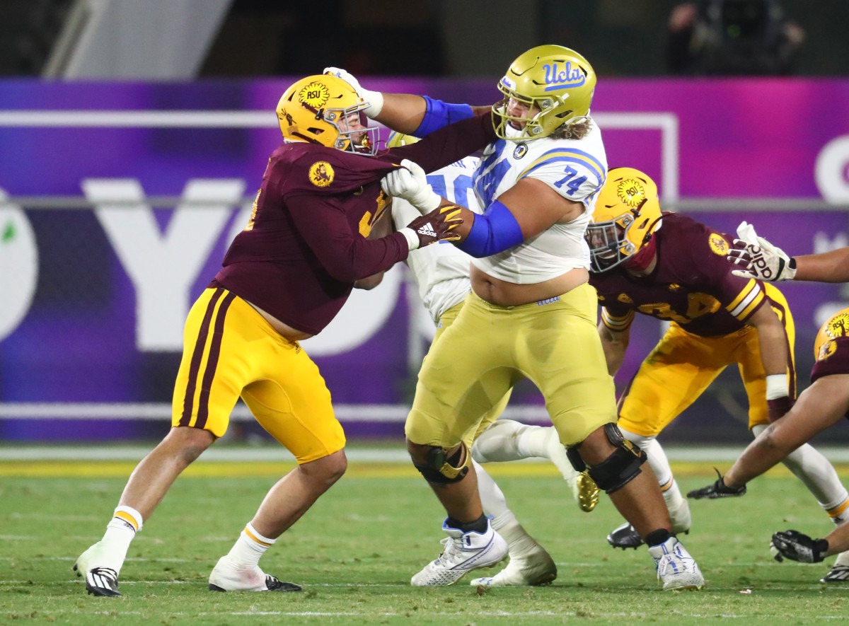 An athletic and refined tackle, Sean Rhyan is NFL-ready and scheme versatile.
