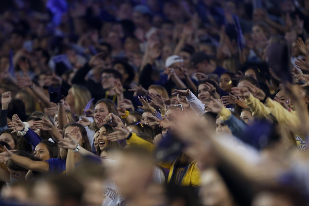 Husky fans were dry and hopeful when the 2019 Cal game began.