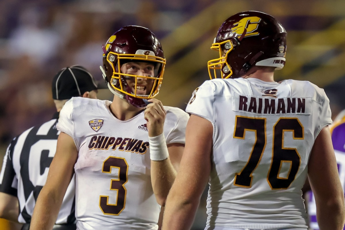Jacob Sirmon played at LSU on Saturday for Central Michigan.