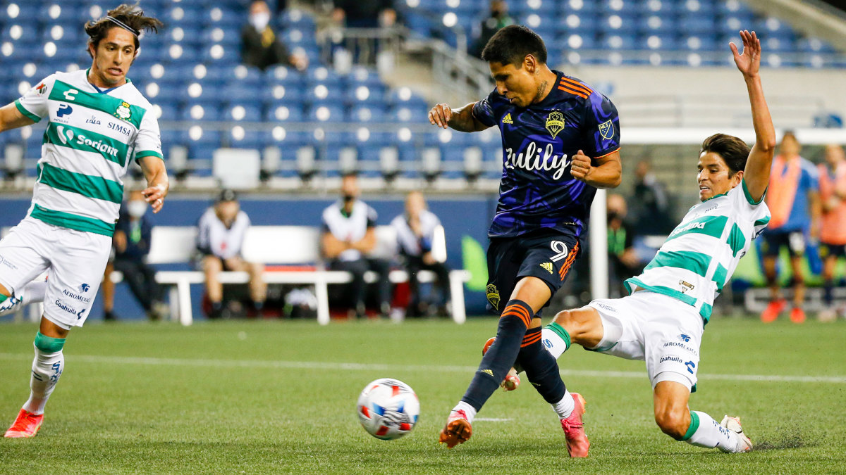 The Seattle Sounders face Santos Laguna in the Leagues Cup