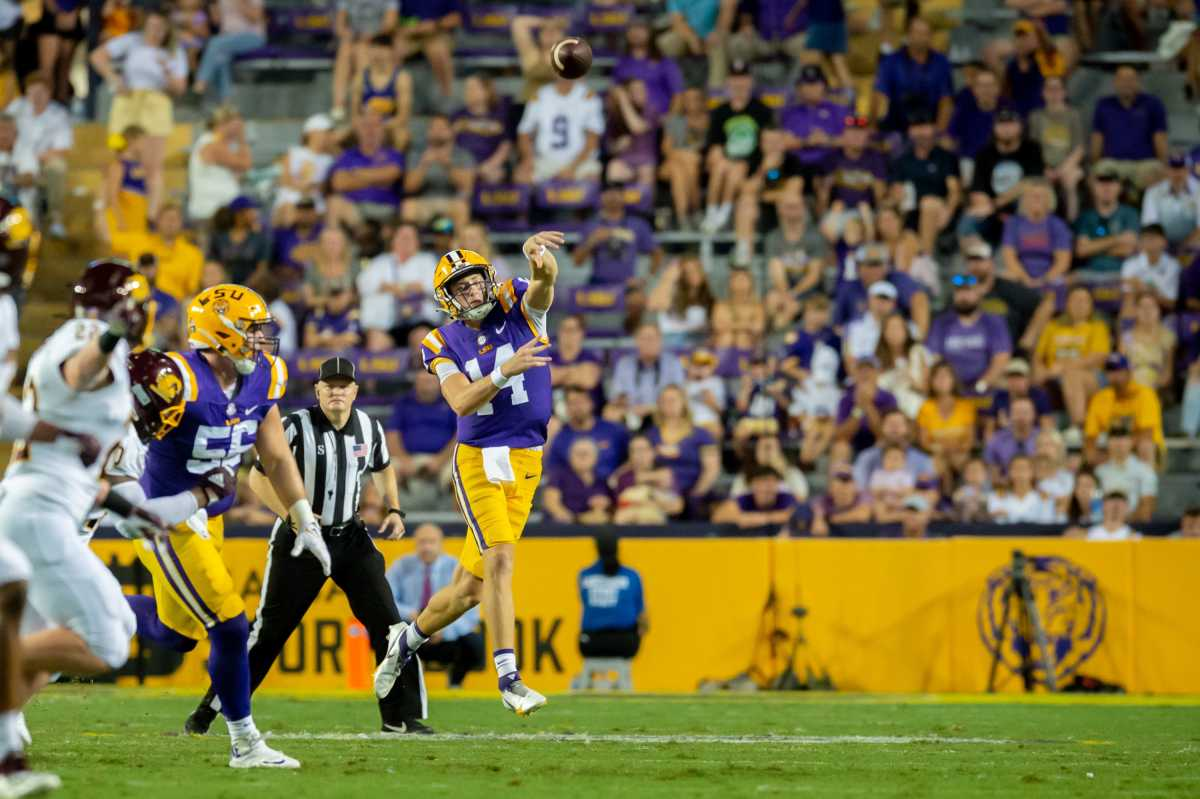 LSU signal caller Max Johnson will be looking to help LSU get revenge against Mississippi State