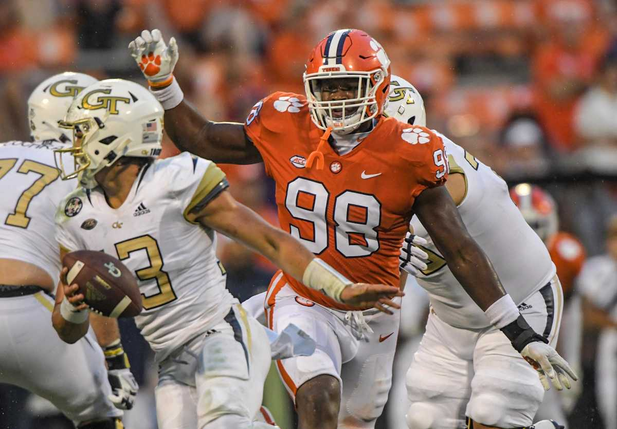 North Carolina State will struggle to slow down Clemson defensive end Myles Murphy