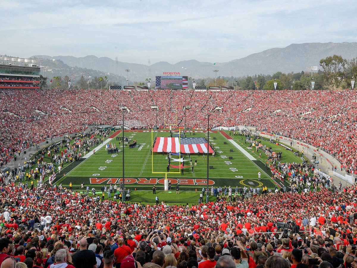 A general view of the 2018 Rose Bowl college football playoff semifinal game