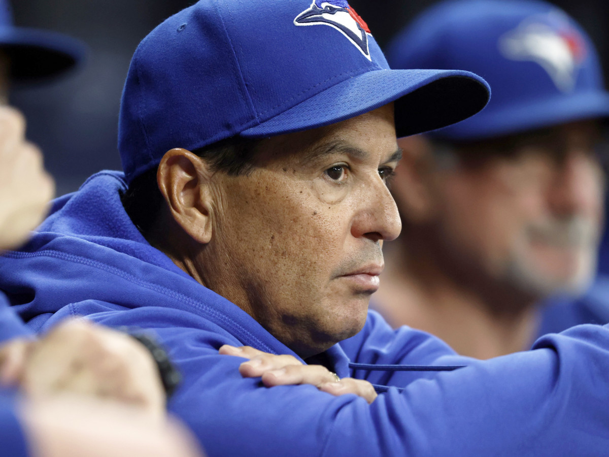 Sep 20, 2021; St. Petersburg, Florida, USA;  Toronto Blue Jays manager Charlie Montoyo (25) looks on during the sixth inning against the Tampa Bay Rays at Tropicana Field.